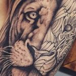 bambi_tattoo-on-move_tattoo_tatouage_lion_realisme_ornemental_dot_black-and-grey