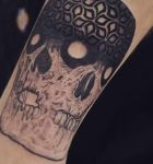 bambi_tattoo-on-move_tattoo_tatouage_tattooart_tattooartist_humanskull_curiosity_pattern_skull_blacktattoo
