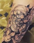 bambi_tattoo_on_move_fleur_flower_chrysanthemum_japanes_clock_montre_a_gousset_line_
