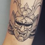 bambi_tattoo_on_move_samurai_mask_japanes_line