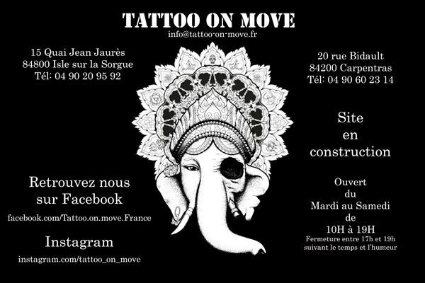 page acceuil temporaire site tattoo on move